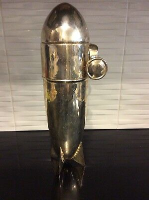 Zeppelin Blimp  Cocktail Shaker- Silver Plated- Restoration Hardware- '97-'98