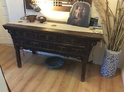 Genuine Antique Chinese Buffet Sideboard Table Console Altar