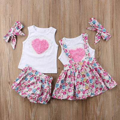 Toddler Baby Girl Sister Matching Outfit Clothes Tops T-shirt Pants Skirts Set