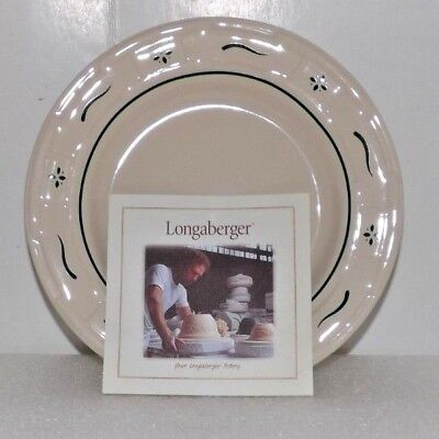 "Longaberger Bread Plate 7-1/4"" Green 33260110"