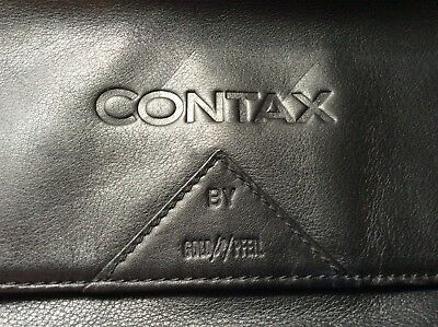 rare! Contax handmade Goldpfeil luxury leather camera outit case, Mint