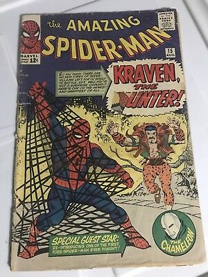Amazing Spider-Man #15 - 1st Appearance of Kraven The Hunter Marvel Comics