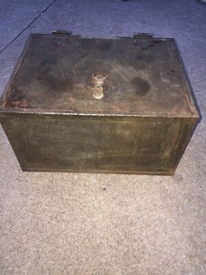 Heavy Duty Metal  Strong Box Safe  with Key Fireproof with stamps strongbox