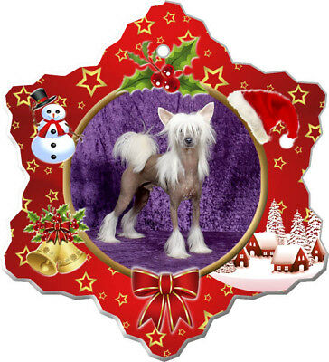 Chinese Crested Porcelain Ornament