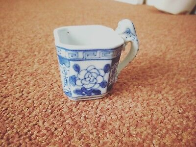 vintage Chinese blue and white cup