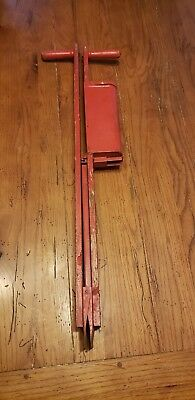 "Vintage, Primitive Farm 34"" Seed Planter, Wood & Metal Seeder G1"