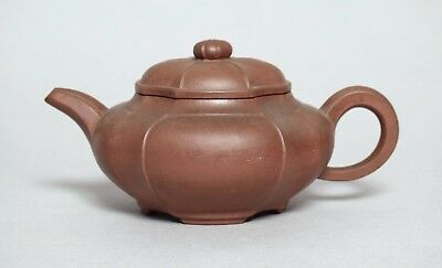 Exceptional Quality Antique 19Thc Chinese Yixing Pottery Teapot, Signed