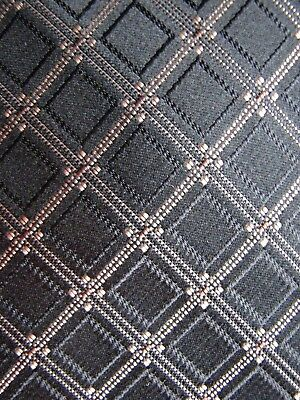 "Classic 100% Silk "" Joseph Abboud "" Black & Gold Geometric Neck Ties"