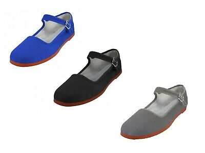 d3f616c6a630 Womens Cotton Mary Jane Shoes Chinese Sandals Black Gray Royal 6 7 8 9 10 11