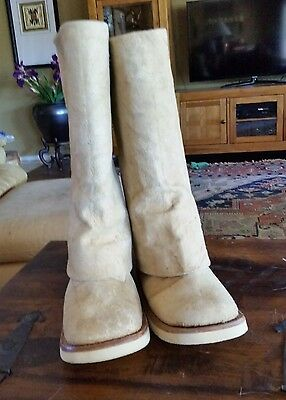 Greek Cretan Handmade Suede Boots Made in the mountains of Greece M-9.5 W-10