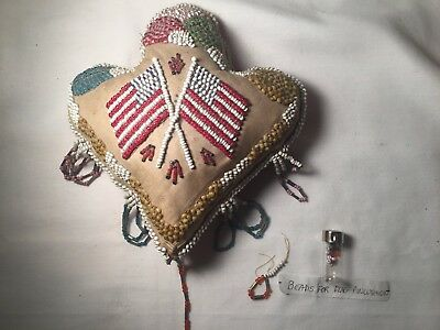 Vintage American Flags Pincushion