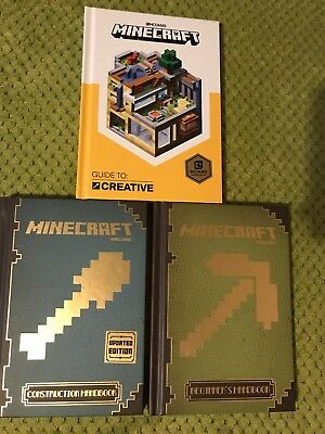 Minecraft Hardback Guides x 3 - Hardly Used In Immaculate Condition. Ideal Gift!