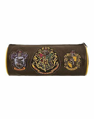 Harry Potter Official Hogwarts House Crests Barrel Pencil Case Stationary Bag