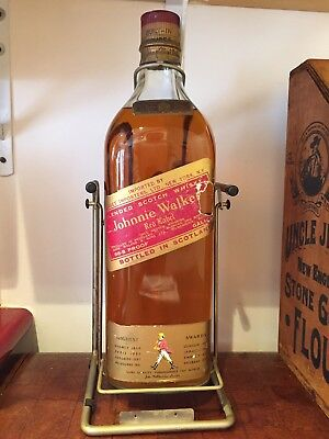 JOHNNIE WALKER RED LABEL 1 GALLON IN THE ORIGINAL SWING ( With The Liquor) Late