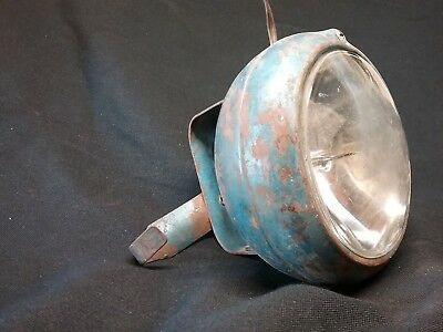 Antique Vintage Circa 1950s Blue Spot Light Round Mechanical With On/Off Switch