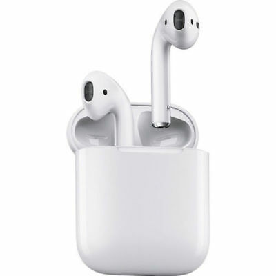Apple AirPods White  MMEF2AM/A In Ear Bluetooth Headset W/ Charging Case-New