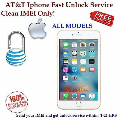 FACTORY UNLOCK SERVICE AT&T USA for IPhone CLEAN ATT IMEIs only, READ