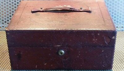 Antique Leather-bound writing box