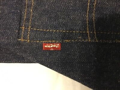 Levis Jeans 501 BIG E size 29 by 34 NOT washed DEADSTOCK