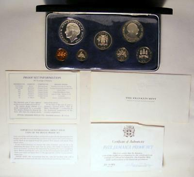 NICE 1973 Jamaica 7 Coin Proof Set With STERLING SILVER $5.00!!