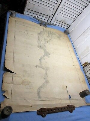 "1887 Nautical Coast Survey - Seguin Island to Kennebunkport, ME - 38"" x 29 3/4"""
