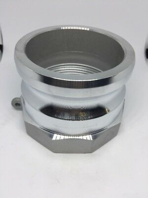 "400-A-AL, 4"" CamLock Fitting, Male Cam X 4"" Female NPT Thread, Aluminum"