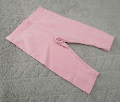Baby Girls 95% Cotton Light Pink Leggings (3-6 Months) - By Mothercare