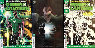 (2018) GREEN LANTERN #1 + Quitely + Midnight Release Variant Cover Set!