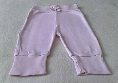 Baby Girls 100% Cotton Pink Joggers/Jogging Pants (0-3 Months)