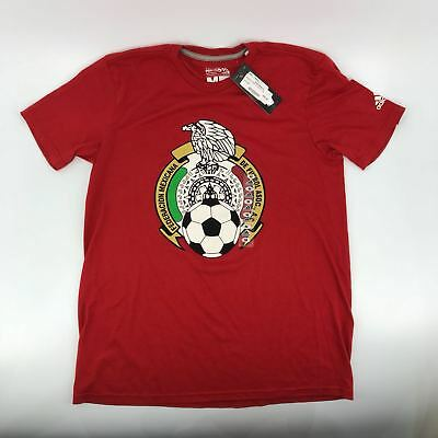 ae8aa713f Men s Adidas Red Mexico Futbol Soccer Team Gift T-Shirt Tee Russia World Cup