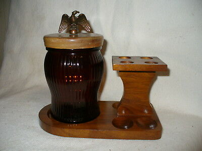 Smoking Pipe Stand And Humidor Holds 4 Pipes Cw Products Corp Ny