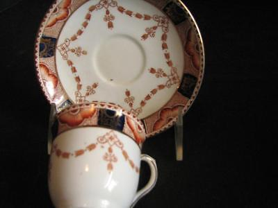 ColcloughTea Cup and Saucer Longton England Hand Decorated