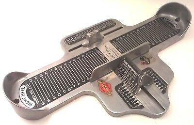 Vintage BRANNOCK DEVICE Foot Measuring Tool MEN'S Shoe Fitting Sizing NY ANTIQUE