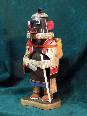 Hopi Kachina Doll - Soyok Wuhti, the Monster Woman - Gorgeous!