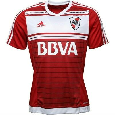 River Plate Away Football Shirt by Adidas - Size Large  - BNWT
