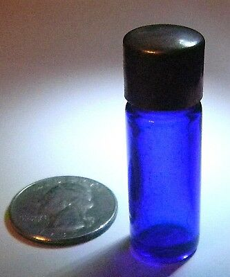 Small Vintage or Antique Cobalt Blue Glass Perfume Bottle