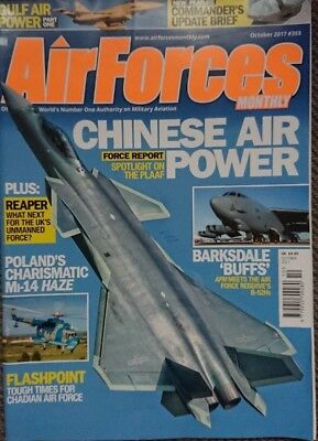 Air Forces Monthly Magazine 2017 October Boeing B-52,Oman,Bahrain,PLAAF,Reaper
