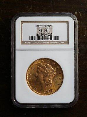 1902 - S MS62 $20 Gold - no reserve