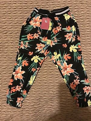 Bnwt Girls Floral Harem Trousers TU Sainsbury's 3 Years