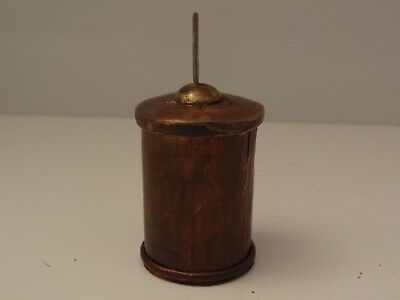 Antique Mongolian Buddhist Handmade Copper Mani Prayer Wheel # 2