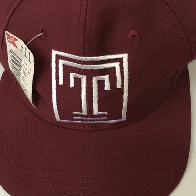 new style 422f8 f8bcb Vintage Temple Owls NCAA Football SnapBack Hat Cap With Tag