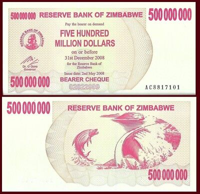 2007 Zimbabwe 750 000 Dollar Bearer Cheque Bank Note-UNC Condition-18-375
