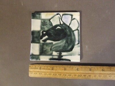 Modernist Mid Century Ceramic Horse Chess Piece Tile (7)