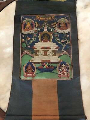 Old Antique Tibetan Thangka Painting