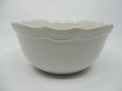 """LENOX FRENCH PERLE BEAD WHITE CEREAL BOWL - 6 1/8"""" x 3""""  0701I"""