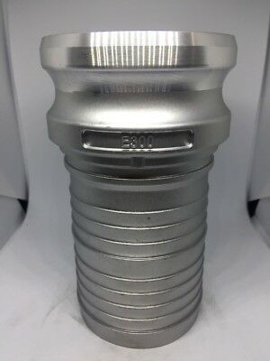 "300-E-AL, 3"" Male Cam Lock X 3"" Hose Shank, Aluminum Cam And Groove Fitting"