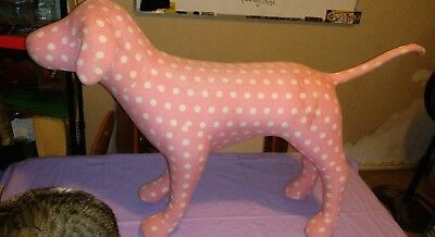 Victoria's Secret PINK Pink Dog Rare Display Large Pink With White Polka Dots