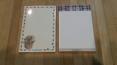 2 NEW Longaberger Note Pads 4 x 6 50 sheets each--Free Shipping