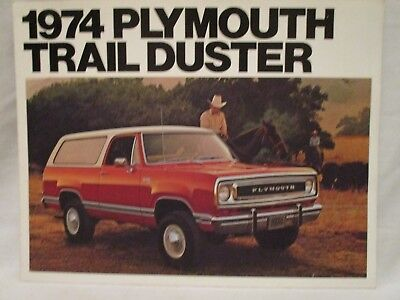 Original MOPAR NOS 1974 Plymouth Trail Duster Dealer Sales Brochure