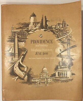 Vintage 1960 Providence Rhode Island and Vicinity Telephone Directory